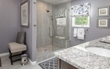 Beautiful Transitional Bathroom · Soft Purple Bathroom · Glamorous  Contemporary Bathroom · Stunning Gray Bathroom ...